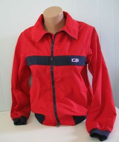 innovative design 493d7 0630f Red Ski Shell Jacket by CB Sports Classic Bright Red n Navy Blue Ladies  Small