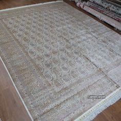Paisley Design 300x400cm (10x13foot) Handmade Silk Carpet harry@camelcarpet... #silkcarpet #handmadecarpet #paisleycarpet #paisleydesigncarpet