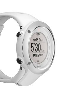 New white Suunto GPS watch for athletes with an improved fit for women