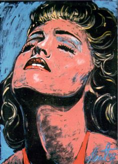 Madonna painting by Denny Dent