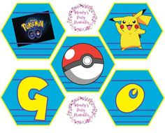 Pokemon party banner from Pokemon GO Birthday Printables at Mandy's Party Printables. See more at mandyspartyprintables.com!