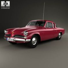 Studebaker Champion (Commander) Starlight Coupe 1953 3d model from humster3d.com. Price: $75