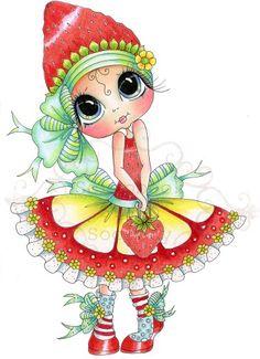 Strawberry Sweet Cheeks My Besties Fine Art Print-