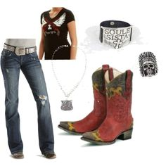 Spitfire Cowgirl Style, created by cowgirltuffcompany on Polyvore