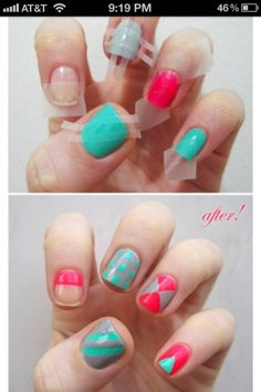 scotch tape nails