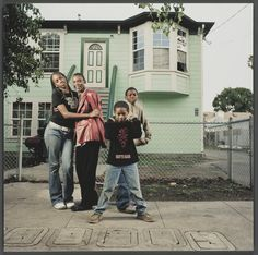 """""""952 Chester Street,"""" a 16x16 giclee print from 2003 by Julie Placensia, is included in the exhibition """"Oakland, I want you to know..."""" at the Oakland Museum of California. Zolika Boissiere, an Oakland native, lived in the front unit from 1997 to 2007. Her son Marquees (not pictured) was shot and killed three blocks from the house shortly after the family moved out."""