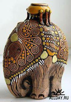 Время собирать слонов Wooden Elephant, Ceramic Elephant, Elephant Love, Elephant Art, Mosaic Projects, Polymer Clay Crafts, Ceramic Clay, Cold Porcelain, Clay Art