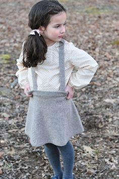 Fall Girls :: Mimi Suspender Skirt - Olive Juice | Childrens Clothing | Girls Dresses | Kids Clothes | Girls Clothing | Classic Kids Clothing