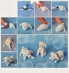Perro en Porcelana Fría ~ Rayito de Colores