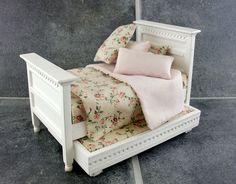 EXDISPLAY DAMAGED Dolls House Bedroom Furniture White Wood Single Trundle Bed   eBay