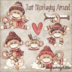 Monkeying Around 1 Clip Art Set