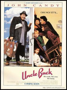 Uncle Buck FRIDGE MAGNET 6x8 John Candy Magnetic Movie Poster Canvas Print