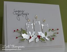 Memory Box Die- Glowing Candles 98661 Season's Greetings by Loll Thompson - Cards and Paper Crafts at Splitcoaststampers