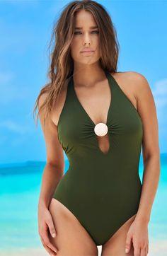 dd6203bf8bc7 Main Image - Amoressa Laura Mars Bianca One-Piece Swimsuit