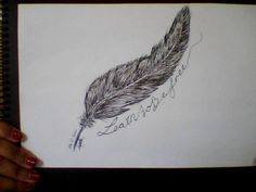 'learn to be free' feather tattoo design.  by teeshirtandties, via Flickr