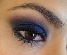 Maquiagem de inverno - azul marinho e bordô - por Taís Andrade
