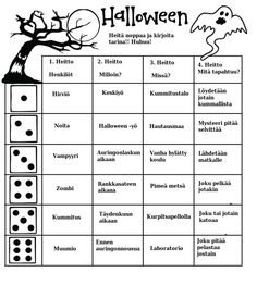1. Kuvia ja kuvakarttoja on helppo käyttää apuna tarinan juonta luotaessa. Kuvat voi näyttää älytaululta tai ne voi tulostaa oppilaille väri... Halloween Games, Halloween Crafts, Learn Finnish, Finnish Language, Classroom Management Strategies, Teaching Tips, Reading Comprehension, Teaching English, Special Education
