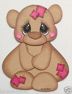 Premade Baer with Patches Paper Piecing by My Tear Bears Kira | eBay