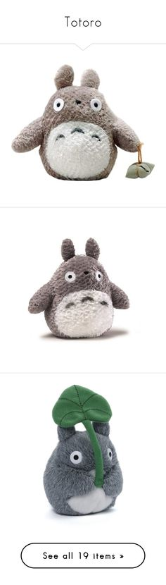 """""""Totoro"""" by kokoxpops ❤ liked on Polyvore featuring plushies, stuffed animals, toys, fillers, animals, stuffed toys, plush, bags, satchel crossbody bag and messenger bags"""