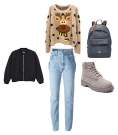 """"""":)"""" by zanna4 ❤ liked on Polyvore featuring Timberland, FOSSIL and Monki"""