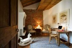 Restoration project of a house 600 years old. The walls of the house were heavy stone. The beams are all original & brick in rest room. After the children left – turned into a B & B