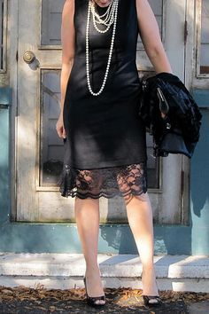 black lace to lengthen some of my dresses....                                                                                                                                                                                 More