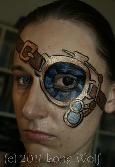Steampunk Facepaint Eyepatch by ~lone-wolf-dk on deviantART