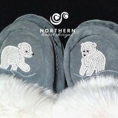baby polar bears Native Beading Patterns, Beadwork Designs, Native Beadwork, Native American Beadwork, Baby Polar Bears, Beaded Moccasins, Bead Sewing, Beaded Lanyards, Nativity Crafts