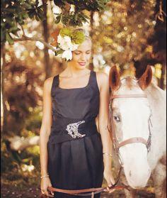 Designer: Amanda Garrett, Short Black Gown  Silhouette: Sheath   Colour: Black  Fabric: Silk  Condition: Sample  Size: 12 – 14
