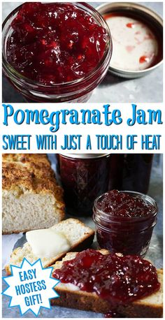 What to make with pomegranates? Bam Bam Pomegranate Jam is beautiful, festive and so delicious! Perfect for toast & jam or your fav PB&J! Homemade Jam is easier to make than you think. Check out this recipe for step-by-step directions! Jelly Recipes, Jam Recipes, Dessert Recipes, Cooking Recipes, Sweet Recipes, Desserts, Pomegranate Jelly, Pomegranate Recipes, Recipes