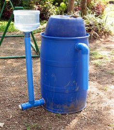 Homemade biodigester provides a solution to waste treatment as well as provides an alternative energy source.