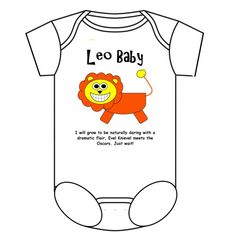 Leo Baby Onesie  $22.99... she HAS to have this!