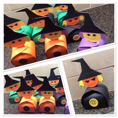 Here's a Halloween treat box I decorated using the head from Scarecrow in Potions & Spells.  I created the treat box using Cricut shapes. Then I discovered the Cricut Take Out Box inTags Bags Boxes and More 2!