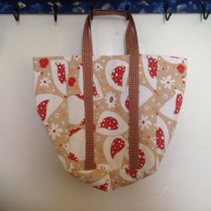 Chicken Print Shopping Tote Bag ReUsable Shopping by MeresCrafts, $13.00