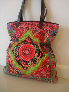 Tote -Tribal-Handmade Ethnic Hmong Bag HB-282. $260.00, via Etsy.