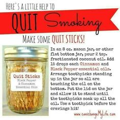 Anointed by Abba: Quit Sticks & other Stop-Smoking Tips