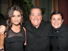 Lea Michele with her parents.