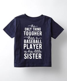 This Navy 'Little Sister' Tee - Toddler & Kids is perfect! #zulilyfinds