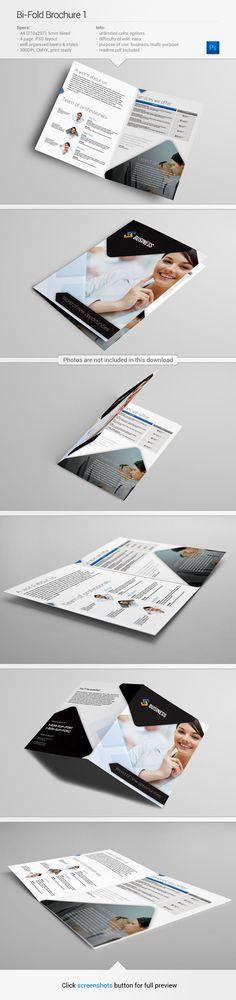 Bi-fold Brochure template   Find out more on my Behance - http://www.behance.net/gallery/Bi-Fold-Brochure-1/10583665