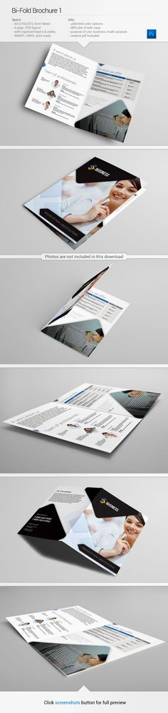 Bi-fold Brochure template | Find out more on my Behance - http://www.behance.net/gallery/Bi-Fold-Brochure-1/10583665