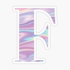 Letter F Holographic stickers featuring millions of original designs created by independent artists. Alphabet Stickers, Printable Stickers, Cute Stickers, Book Letters, Letter F, Cool Lettering, Hand Lettering, Bullet Journal School, Letter Balloons