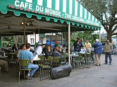 Beignets and Cafe Au Lait at Café du Monde. Miss this so much!