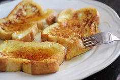 Eggnog French Toast - Gotta have eggnog during the holidays!
