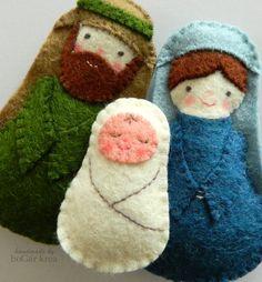 boGarkrea - Karácsonyi díszek - Szent Család, Dekoráció, Karácsonyi, adventi apróságok, Karácsonyfadísz, Karácsonyi dekoráció, Meska