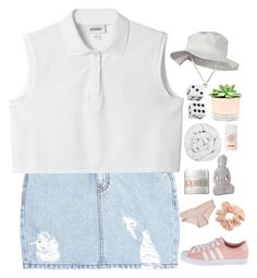 """""""WATCHED"""" by nightcatcher ❤ liked on Polyvore featuring Dark Pink, SJYP, Monki, adidas Originals, The Fine Bedding Company, La Mer, STELLA McCARTNEY, Topshop, Hostess and Chanel"""