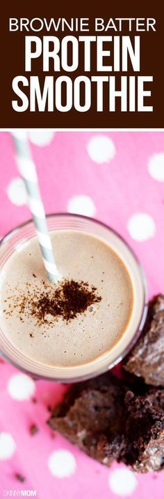 Brownie Batter Protein Smoothie - This protein-packed smoothie tastes just like dessert!