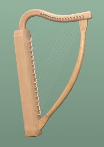 romanesque lap harp