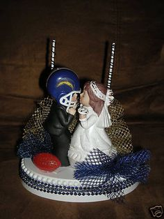 San Diego Chargers cake topper :)  I want this for my Wedding~