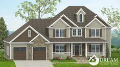Dream House Plans: Find the best new house plans of all styles - Southern Home Plan, Colonial Open House Floor Plans with porches. 4 Bedroom House Plans, New House Plans, Dream House Plans, House Floor Plans, Southern House Plans, Southern Homes, Craftsman Cottage, Walkout Basement, Butler Pantry