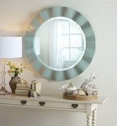 "The Crescent Beach Mirror measures  W 38 x D 2.25 x H 38"". With a collection inspired by some of the most impressive coastal locales – Nantucket, Newport, Carmel, Bar Harbor, to name a few – you can expect an equally impressive product. Somerset Bay raises the standard in design and construction. Each piece is handcrafted from the finest plantation grown mahogany and premium veneers and trim. Craftsmen use state-of-the-art techniques to produce the timeless soft Somerset Bay patina. Their…"